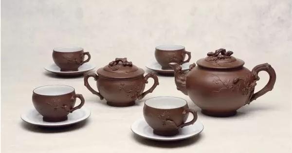 顾景舟制九头咏梅茶具