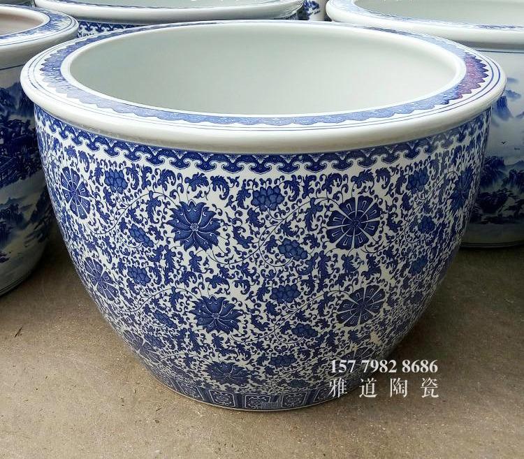 青花陶瓷缸款式一