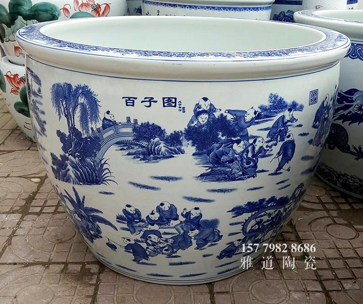 青花陶瓷缸款式三