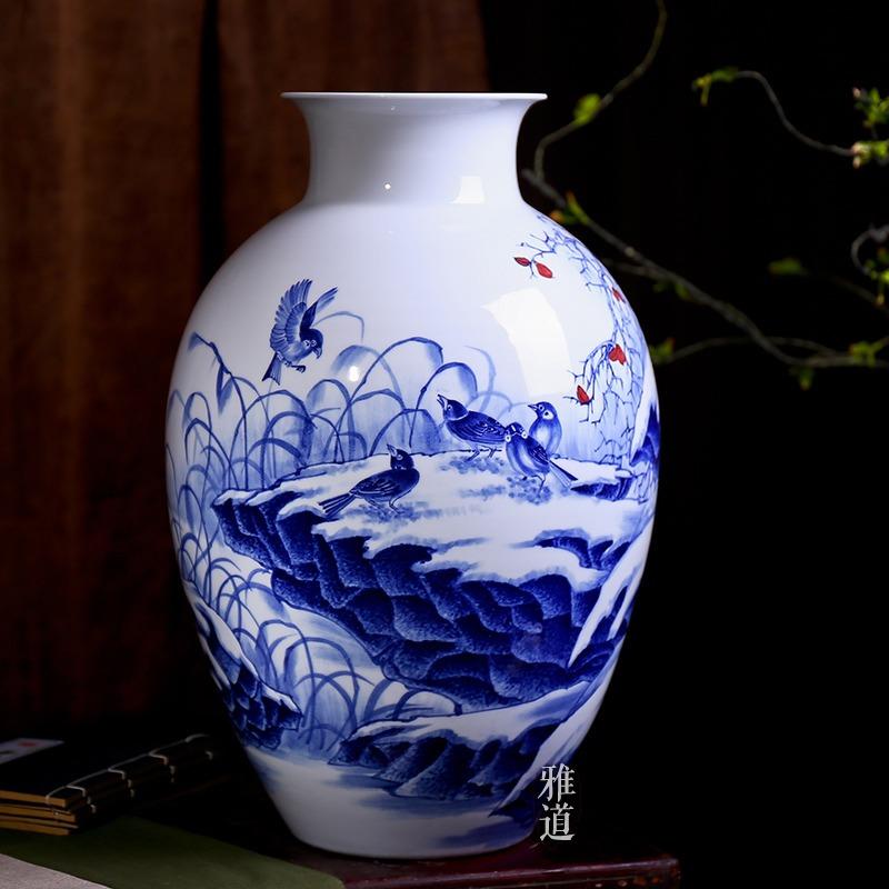 景德镇手绘陶瓷花瓶高档礼品花瓶