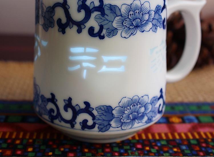 景德镇青花玲珑礼品茶杯