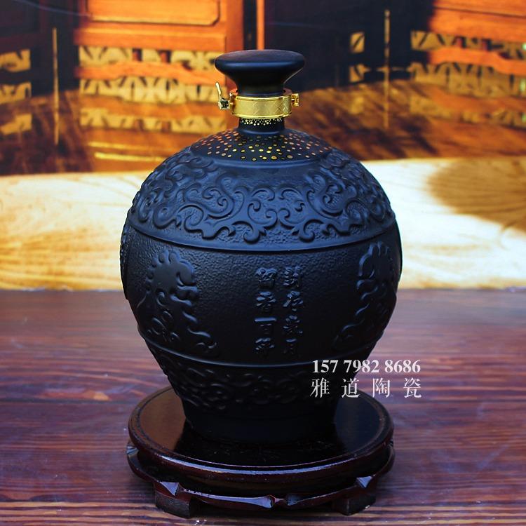 仿铁铸5斤10斤陶瓷酒坛批发