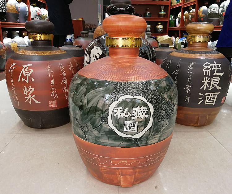 100斤雕刻陶瓷大酒坛