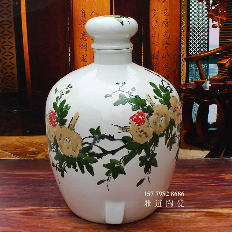 景德镇手绘陶瓷大酒坛