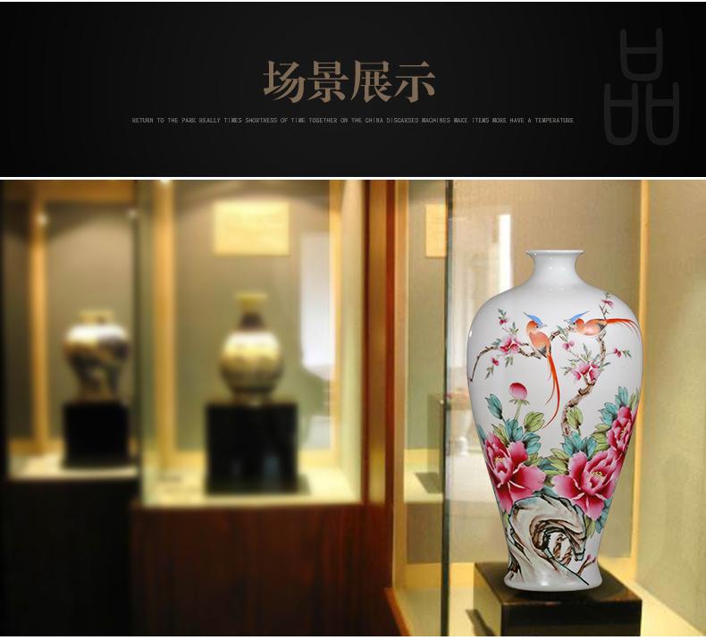 夏国安手绘满园春色花瓶家居工艺品摆件-实景