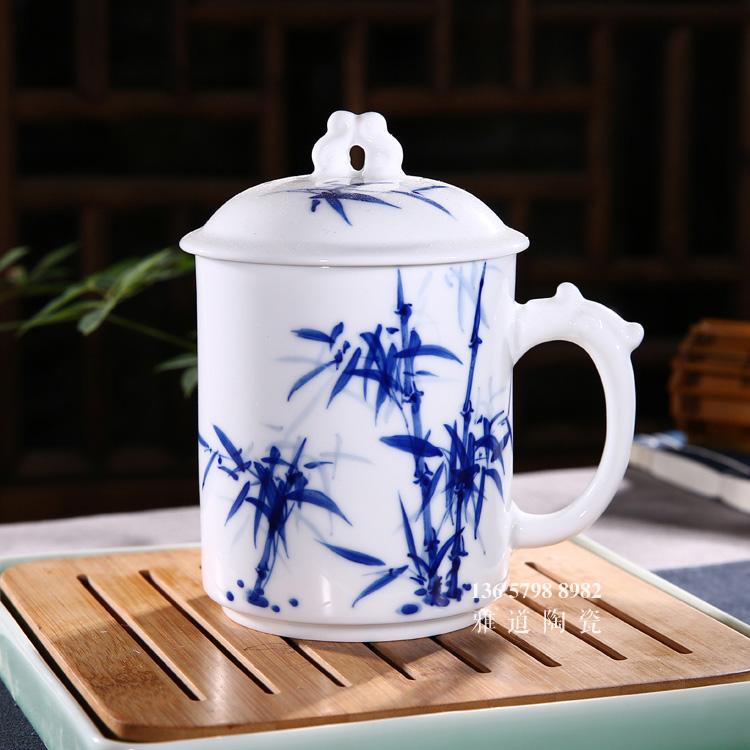 景德镇手绘青花瓷陶瓷茶杯