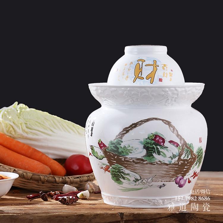 10斤20斤30斤髙白陶瓷泡菜坛子