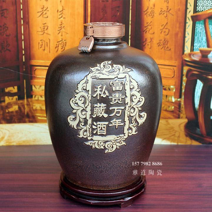 景德镇10斤20斤雕刻密封加厚酒坛