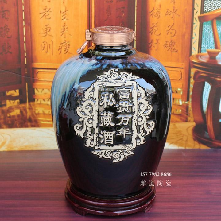 景德镇10斤20斤雕刻密封加厚酒缸