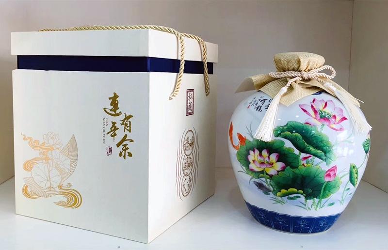 1至10斤连年有余陶瓷酒坛批发
