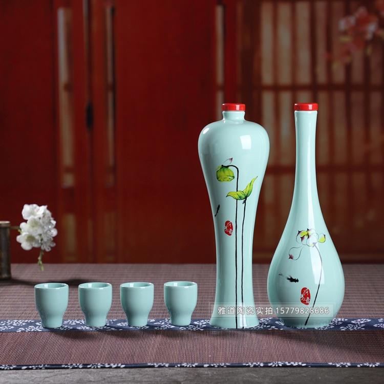 1斤装和为贵创意陶瓷酒坛礼盒