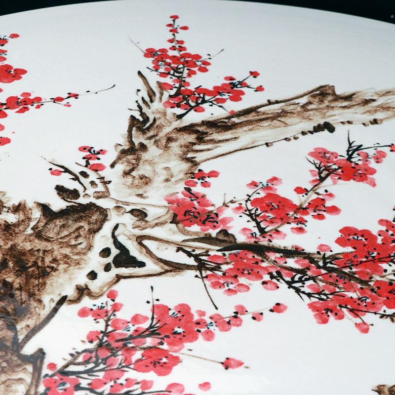 景德镇手绘梅花室内外中式陶瓷桌凳