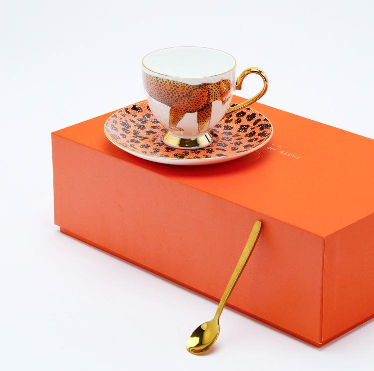 景德镇高档陶瓷咖啡杯礼品套装(灵豹)