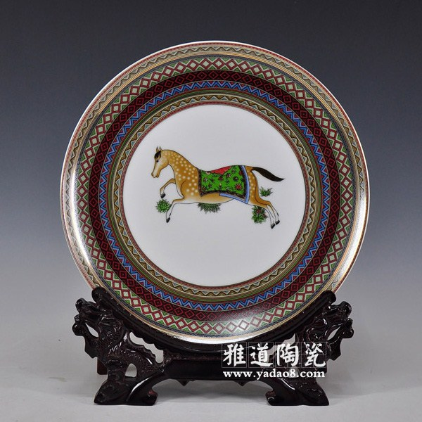 爱马仕陶瓷欧式家居装饰盘