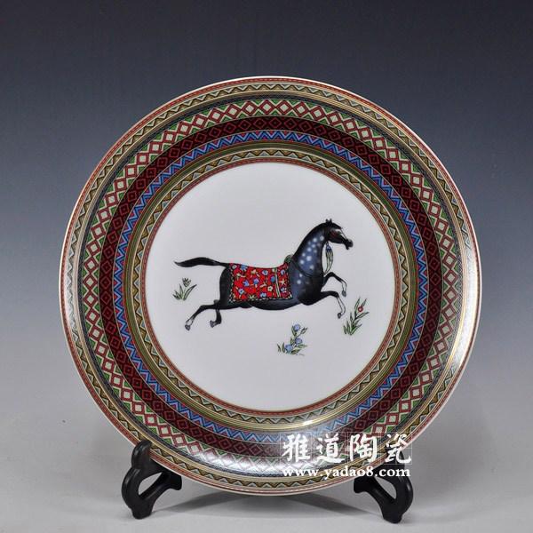 欧式装饰盘-爱马仕陶瓷欧式家居装饰盘