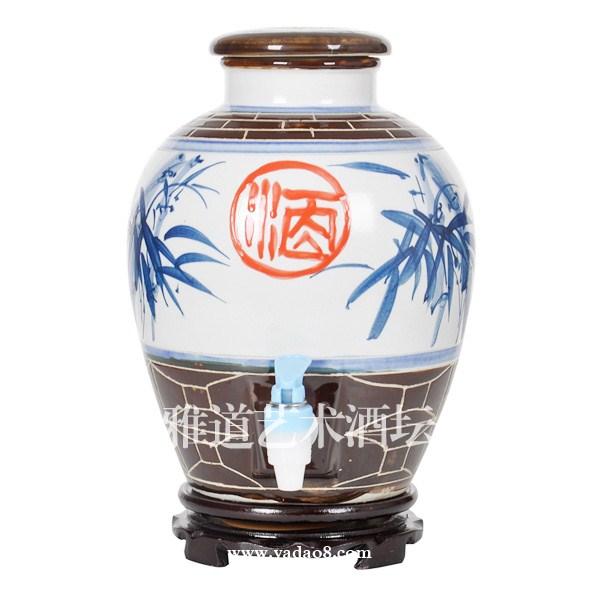 景德镇手绘节节高陶瓷酒坛