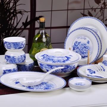 景德镇富贵吉祥青花瓷器餐具