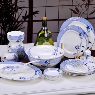 景德镇花样年华青花瓷餐具