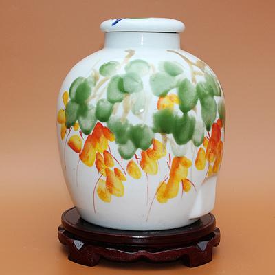 景德镇手绘30斤工艺陶瓷酒坛浓浓情意