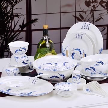 景德镇青花瓷餐具套装