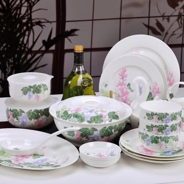 景德镇骨质瓷餐具套装 多姿多彩