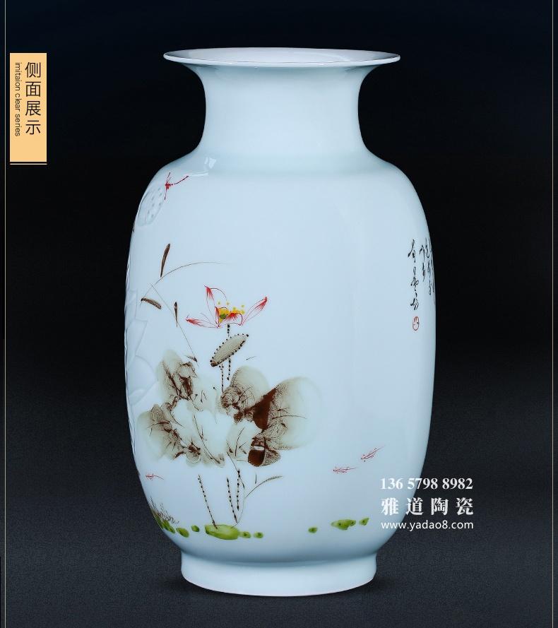 景德镇半刀泥陶瓷花瓶客厅书房装饰品摆件