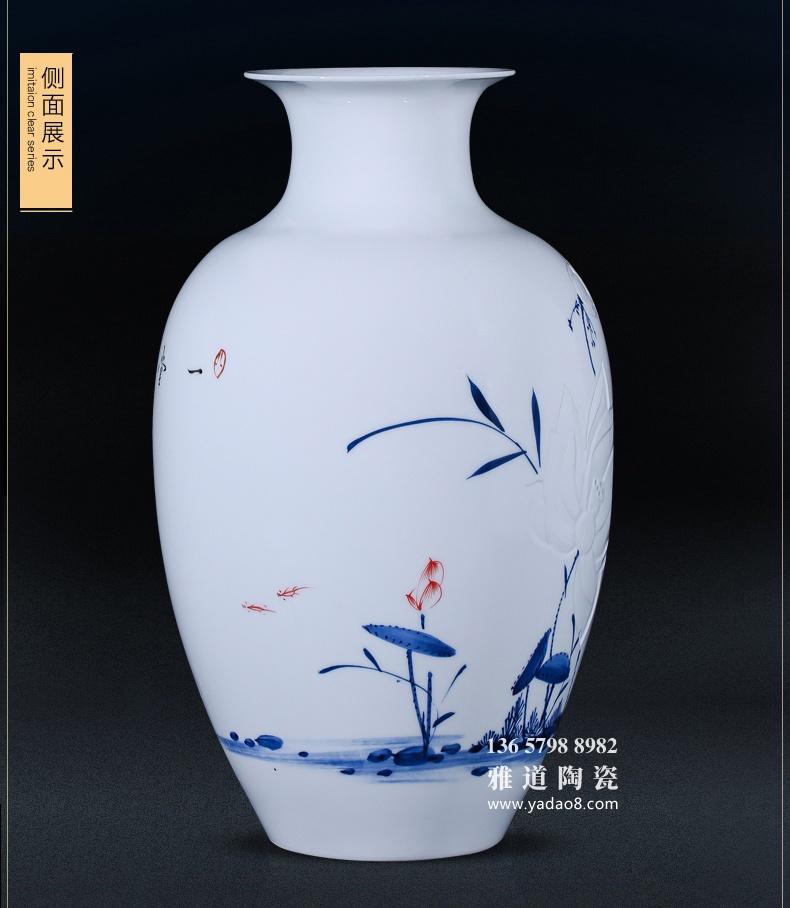 景德镇名家包林平手绘半刀泥高档陶瓷花瓶