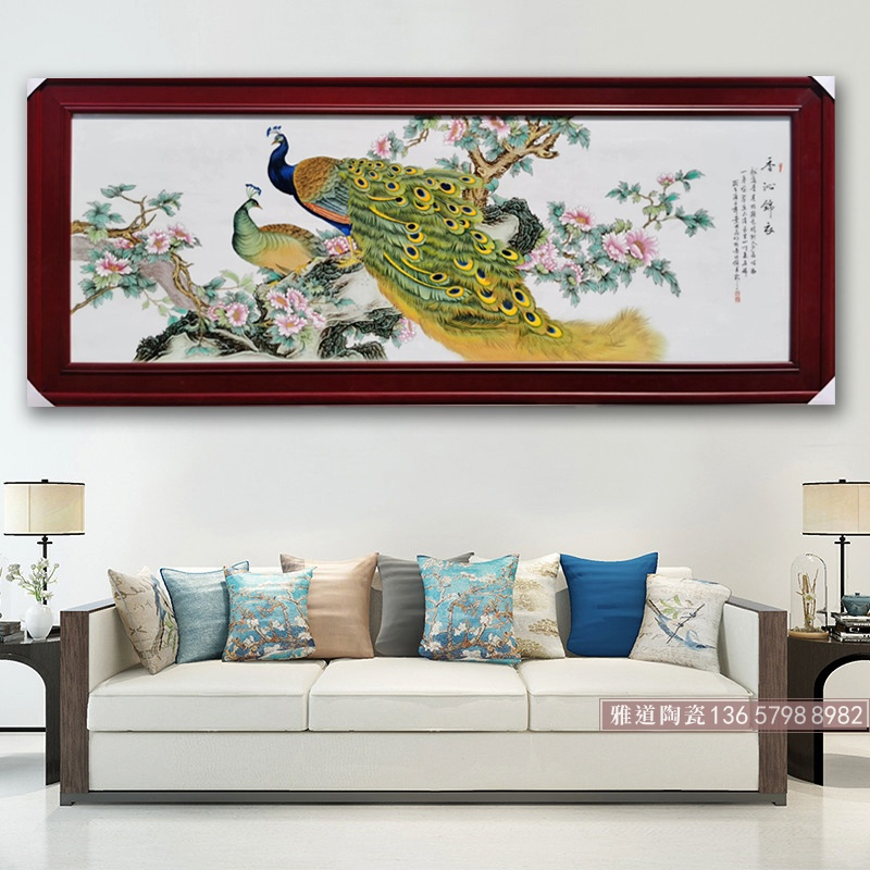 景德镇手绘花鸟瓷板画作品(香沁锦衣)