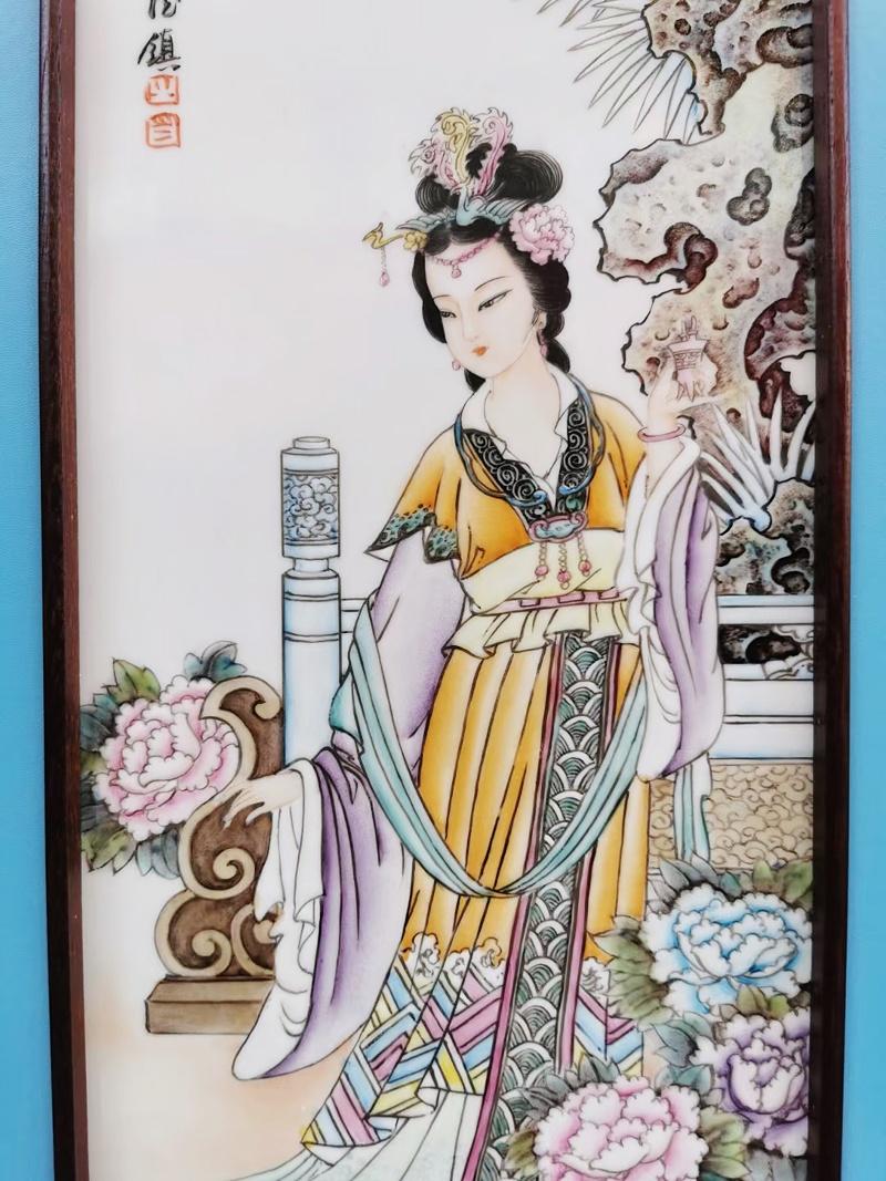 室内墙面装饰条屏瓷板画(四大美人)