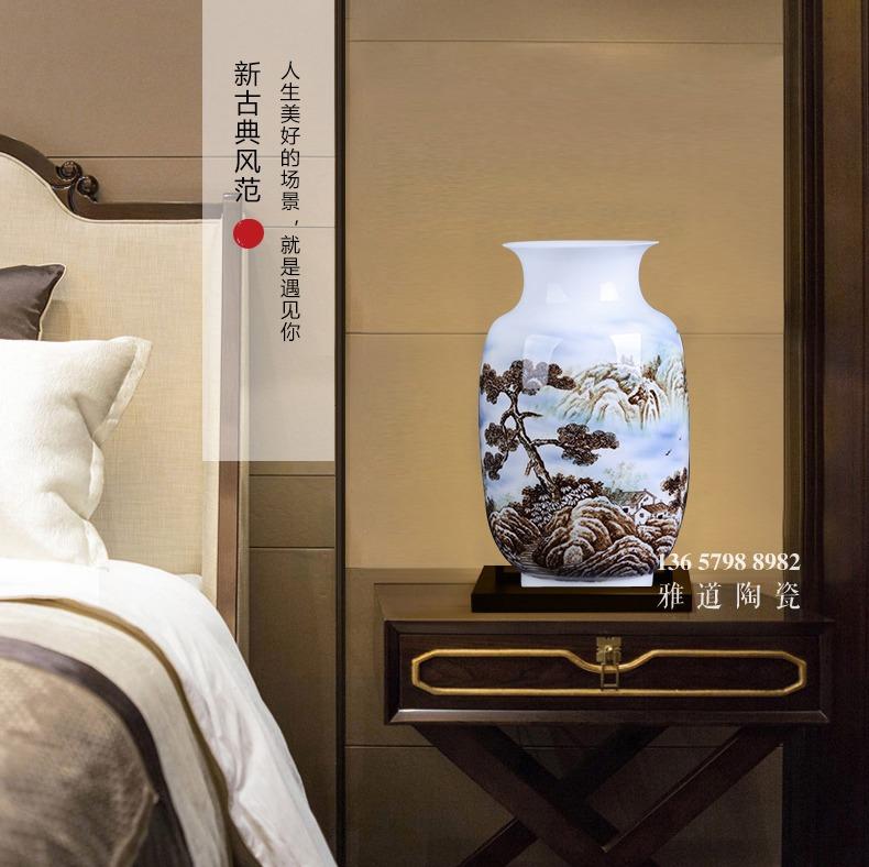 黄小玲手绘薄胎陶瓷艺术花瓶故乡情