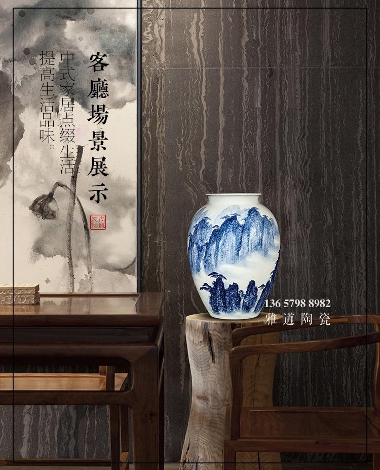 景德镇刘统富手绘青花家居艺术品花瓶