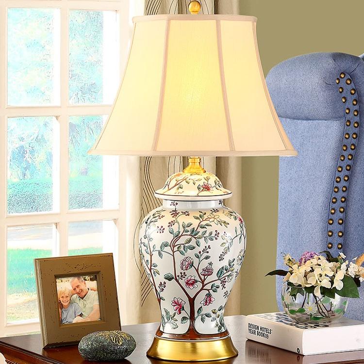 景德镇手绘欧式简约装饰陶瓷台灯