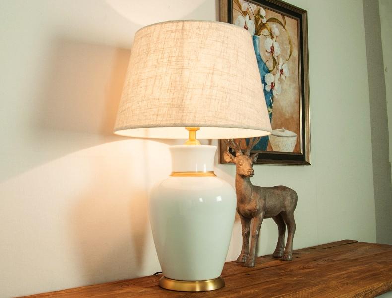 景德镇欧式简约客厅卧室床头陶瓷台灯