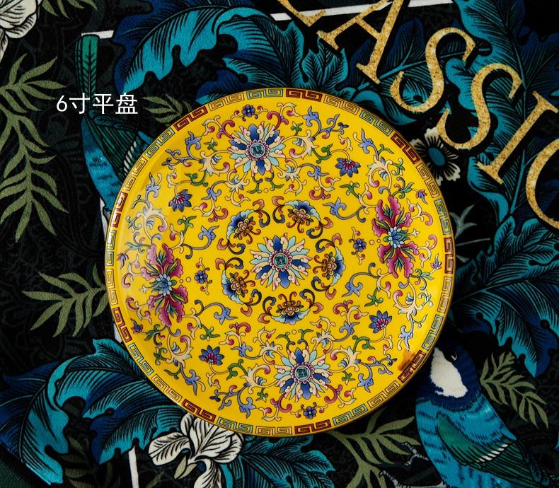 72头皇家珐琅彩高档餐具套装(华膳全席)