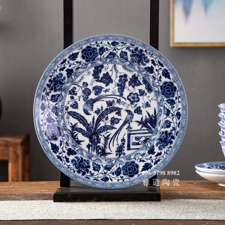 60头仿元青花高端中式青花陶瓷餐具