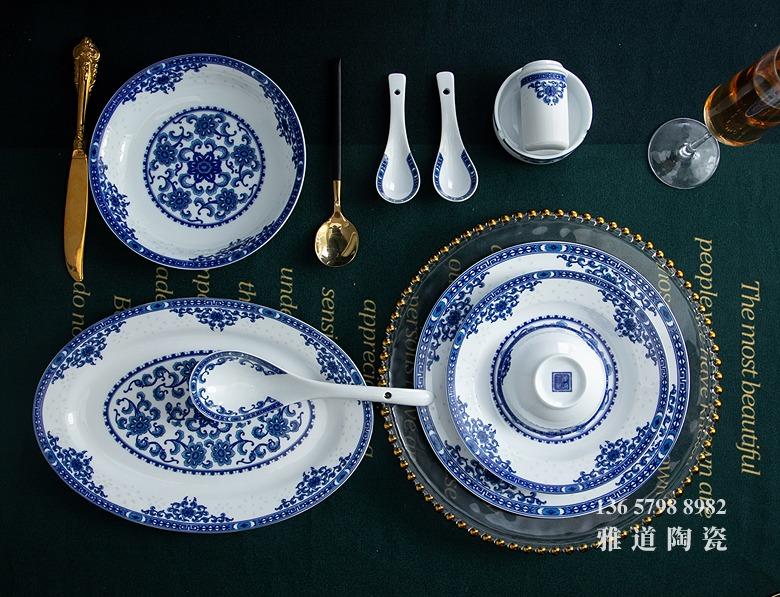 56头家用景德镇陶瓷餐具(玲珑富贵)