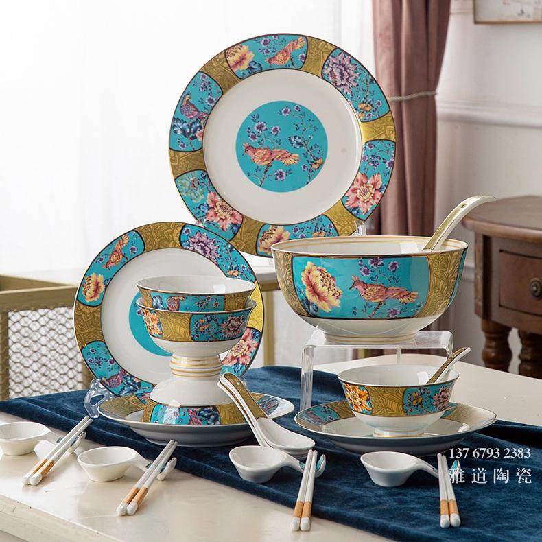 精美礼品餐具(22头鸟语花香)