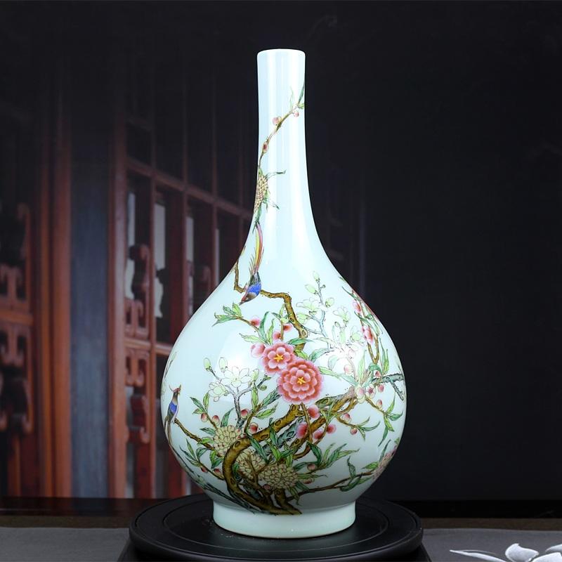 仿雍正粉彩景德镇手绘艺术花瓶